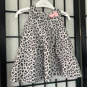 Carters Cheetah Print Dress Grey Black 6 Month